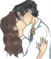Beso Harry-Hermione by lis-jade-black