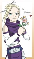 Ino with Flowers for riachu64 by -babykefka-