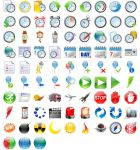 48x48 Free Time Icons by Ikont