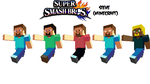 Super Smash Bros. 4: Steve Colors (More be soon) by nintendoscarface11
