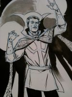 Dr Strange Thoughtbubble sketch by MarcLaming