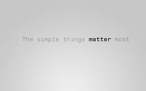 The simple things matter the.. by miqlliot