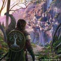 Boromir arrives to Rivendell by 1oshuart