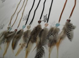 Custom Handcrafted Hair Feather Clip Extensions by ChibiSayuriEtsy