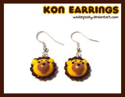 Kon Earrings by whitefrosty
