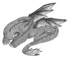 HTTYD - Baby Toothless by kittyflip