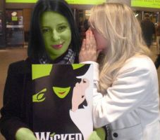 Wicked- Elphaba and Galinda by TaylorJSomeday