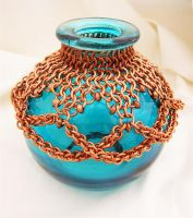 Chain Maille Oil Lamp 2 by chainedoombaby