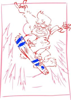 Snowboard BigFoot - sketch by ruth2m