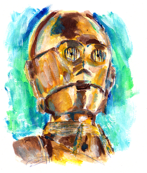 C3PO - Quick Paiting by HeroFromMars