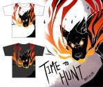 T-shirt - Time to hunt by Zennore