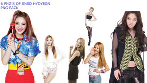 SNSD HYOYEON PNG PACK by Acoojoy13
