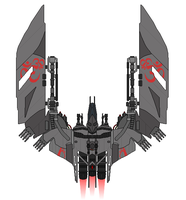 Vanduul Heavy Fighter-Bomber Razor by Seeras
