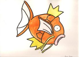 Watercolor Magikarp by WizardTypist