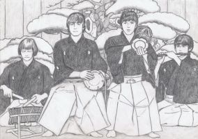 The Beatles as Noh Orchestra by gagambo