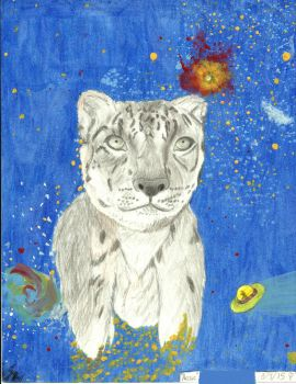 Arctic the Spacehead Snow Leopard by Nojo-on-the-rojo