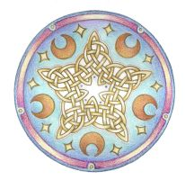 Celestrial Knotwork  by Spiralpathdesigns