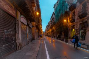 evening in Palermo by Rikitza