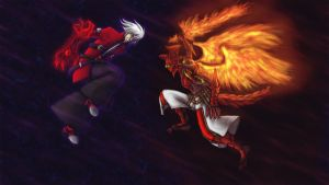 Ragna vs Sol by wendylizana
