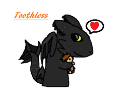 Toothless is Chibi -art trade- by sabermist3