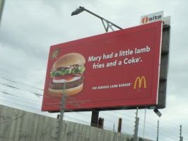 Mary Had A Little Lamb, Fries And A Coke! by StuDocWho