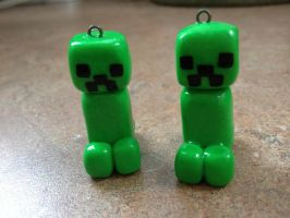 Polymer Clay Creepers by Fluffybunnycharms