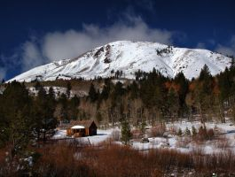 Snowy cabin by MartinGollery