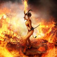 Demoness of Sword of fire  tail by FueledbypartII