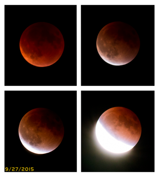 Super Awesomely Huge Bloody Red Moon Lunar Eclipse by civilpython