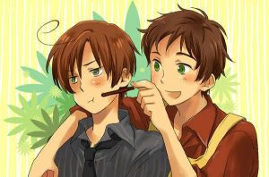 Spain and Romano from Hetalia by ReiKagene4Ever