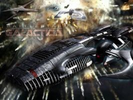 Battlestar Galactica ship by Amedea