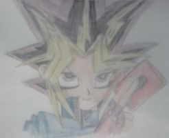 Yu-Gi-Oh - Yami Yugi Coloured by Melafy-Starbringer