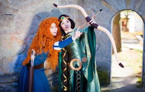 Elinor and Merida Brave by Re-Aska