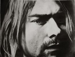 kurt cobain in pencil by amitkumaratwork