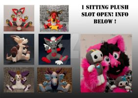1 plush slot OPEN! info below by FurryFursuitMaker