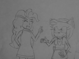 Pinkie pie and Amy rose. by brandonale