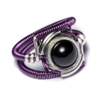Cyberpunk Dark Purple Ring by CatherinetteRings