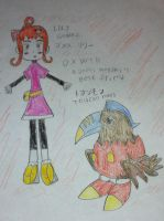 digimon xros wars oc's lilly gomez and toucanmon by Kawaii-Nekochara