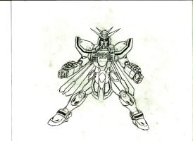 God Gundam Sketch by Ego-Creo