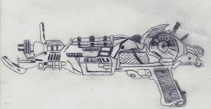 Ray Gun Mark 2 Hand Drawn by mxtxm