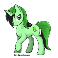 Emerald Zapp - Pony 1 by MooMooAdopts