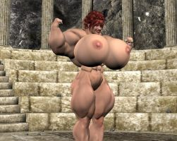 FemaleMuscleGrowth in Coliseum by grycat20