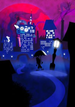Lone Nightwalk by Samuel-SILVER