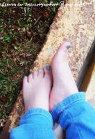Adorable Little Turquoise Toes by SelfshotYourFeet
