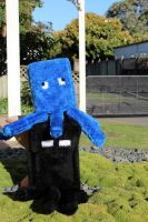 Minecraft squid plushie with enderman by dannychopsnz