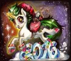 Happy New Year2016 by Bazted