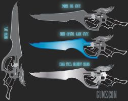 Lion Heart Gunblade Vector Art by GunZcon