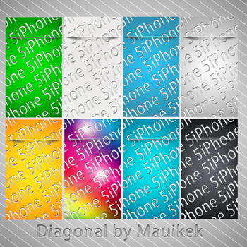Diagonal for iPhone 5 by Mauikek by mauikek