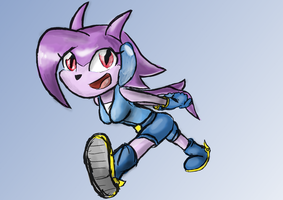 45min Drawing Lilac from Freedom Planet by manfartwish