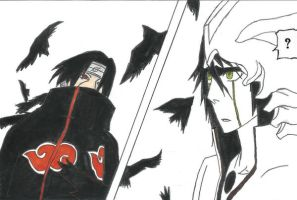 Itachi vs. Ulquiorra by AkatsukiWizard